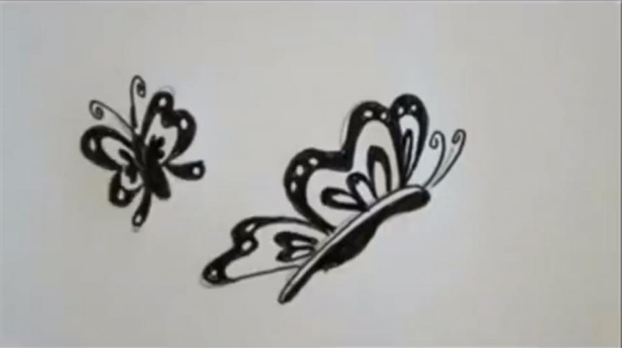 Рисуем слово Butterfly